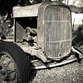 Vintage Old Rusty Ford Farm Tractor Escondido by Edward Fielding