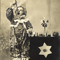 Vintage Photo Of Child Sword Swallower by Chippix