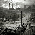 Vintage Pittsburgh Mill District 1940 by Doc Braham