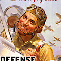 Vintage Poster For Defense Bonds Stamps by American School