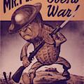 Vintage Poster - Mr. Peanut Goes To War by Vintage Images