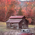 Vintage Red Ford Country Colors by Debra and Dave Vanderlaan