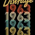 Vintage Retro Since 1963 Birthday Gift by Carlos Ocon