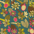 Vintage Seamless Tropical Flowers With by Zolssa