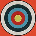 Vintage Target - Orange by Eric Fan
