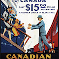 Vintage Travel Poster Canada Pacific Steamships  by Movie Poster Prints