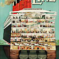 Vintage Travel Poster Cunard Line by Movie Poster Prints