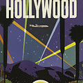 Vintage Travel Poster - Hollywood by Esoterica Art Agency