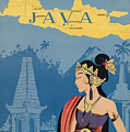 Vintage Travel Poster - Java by Esoterica Art Agency