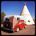 Vintage Volkswagon Beatle Camper  by Imagery by Charly