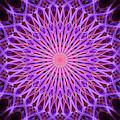 Violet And Orange Smoke Mandala by Jaroslaw Blaminsky