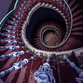 Violet And Red Spiral Staircase by Jaroslaw Blaminsky