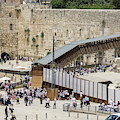 Visitors At The Western Wall In The Jewish Quarter Of The Old Ci by William Kuta