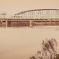 Waco Suspension Bridge Panoramic by Imagery by Charly
