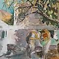 Waiting Near Tetses Studio by Diane Renchler