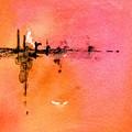 Walking A Desert Sunset 1 by Carlin Blahnik CarlinArtWatercolor