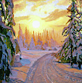 Walking Home For Christmas by David Lloyd Glover