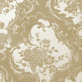 Wallpaper Sample, Brown by English School