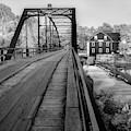 War Eagle Bridge And Mill - Infrared Monochrome 1x1 by Gregory Ballos