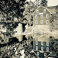 War Eagle Mill Reflections - Northwest Arkansas - Sepia Edition by Gregory Ballos