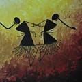 Warli Painting by Bishnupriya Borkakoty