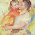 Washerwoman And Child, 1887 by Pierre Auguste Renoir