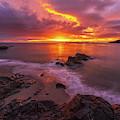 Washington Coast Sunset Serene Evening by Mike Reid