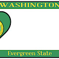 Washington State License Plate by Bigalbaloo Stock
