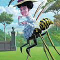 Wasp Woman Insect Drinking Tea Fantasy by Martin Davey
