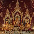 Wat Chang Taem Phra Wihan Buddha Images Dthcm2799 by Gerry Gantt