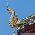 Wat Chang Taem Phra Wihan Naga Roof Finial Dthcm2801 by Gerry Gantt