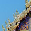 Wat Ko Chok Phra Wihan Makara And Naga Roof Finials Dthcm2698 by Gerry Gantt