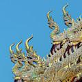 Wat Ko Chok Phra Wihan Makara And Naga Roof Finials Dthcm2700 by Gerry Gantt