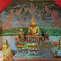 Wat Pa Chai Mongkhon Phra Ubosot Buddha Images Dthla0126 by Gerry Gantt