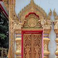 Wat Pa Sang Ngam Phra Ubosot Doors Dthlu0589 by Gerry Gantt