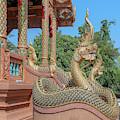 Wat Rong Khut Phra Ubosot Makara And Naga Guardians Dthcm2727 by Gerry Gantt