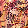 Watercolor - African Savanna Design by Cascade Colors