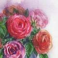 Watercolor Flowers Bouquet Natures Breath II by Irina Sztukowski