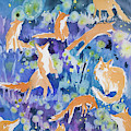 Watercolor - Fox And Firefly Design by Cascade Colors