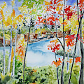 Watercolor - Northern Minnesota Autumn by Cascade Colors