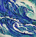 Watercolor - Ocean Wave Design by Cascade Colors