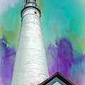 Watercolor Sky Lighthouse by Anthony C Ellis