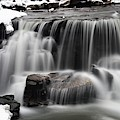 Waterfall And Snow by Larry Ricker