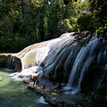 Waterfall In The Jungle Chiapas by David Resnikoff