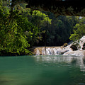 Waterfall In The Jungle In Chiapas by David Resnikoff