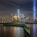 Waterfront Walkway Tribute In Light Pano by Michael Ver Sprill