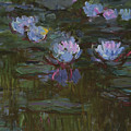 Waterlilies, 1914 To 17 Detail By Monet by Claude Monet