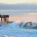 Waves At The Inlet Beach by Robert Banach