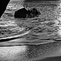 Waves From The Cave In Monochrome by Angelo DeVal