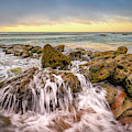 Waves Over Coquina by Stacey Sather